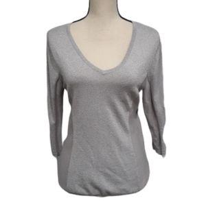 Calvin Klein Silver Metallic Sweater sz L